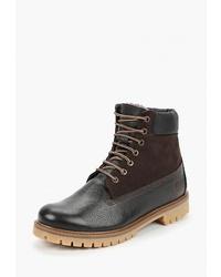 Мужские темно-коричневые кожаные повседневные ботинки от Goodzone