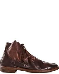 Мужские темно-коричневые кожаные повседневные ботинки от Guidi