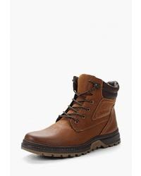 Мужские темно-коричневые кожаные повседневные ботинки от Instreet