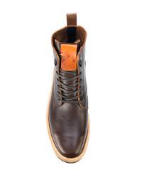 Мужские темно-коричневые кожаные повседневные ботинки от Al Duca D'Aosta 1902