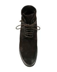 Мужские темно-коричневые кожаные повседневные ботинки от Marsèll