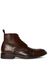 Мужские темно-коричневые кожаные повседневные ботинки от Paul Smith