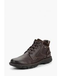 Мужские темно-коричневые кожаные повседневные ботинки от Salamander
