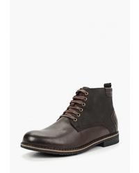 Мужские темно-коричневые кожаные повседневные ботинки от T.Taccardi