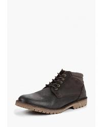 Мужские темно-коричневые кожаные повседневные ботинки от Weinbrenner by Bata