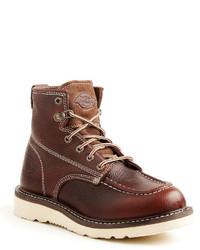 Темно-коричневые кожаные рабочие ботинки