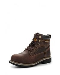 Мужские темно-коричневые кожаные рабочие ботинки от Airbox