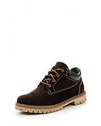 Мужские темно-коричневые кожаные рабочие ботинки от Bekerandmiller