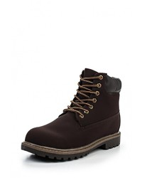 Мужские темно-коричневые кожаные рабочие ботинки от Montefiori