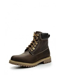 Мужские темно-коричневые кожаные рабочие ботинки от Weinbrenner by Bata