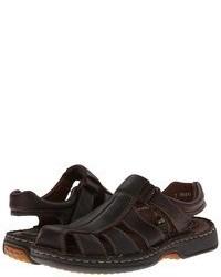 Темно-коричневые кожаные сандалии