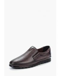 Мужские темно-коричневые кожаные слипоны от Alessio Nesca