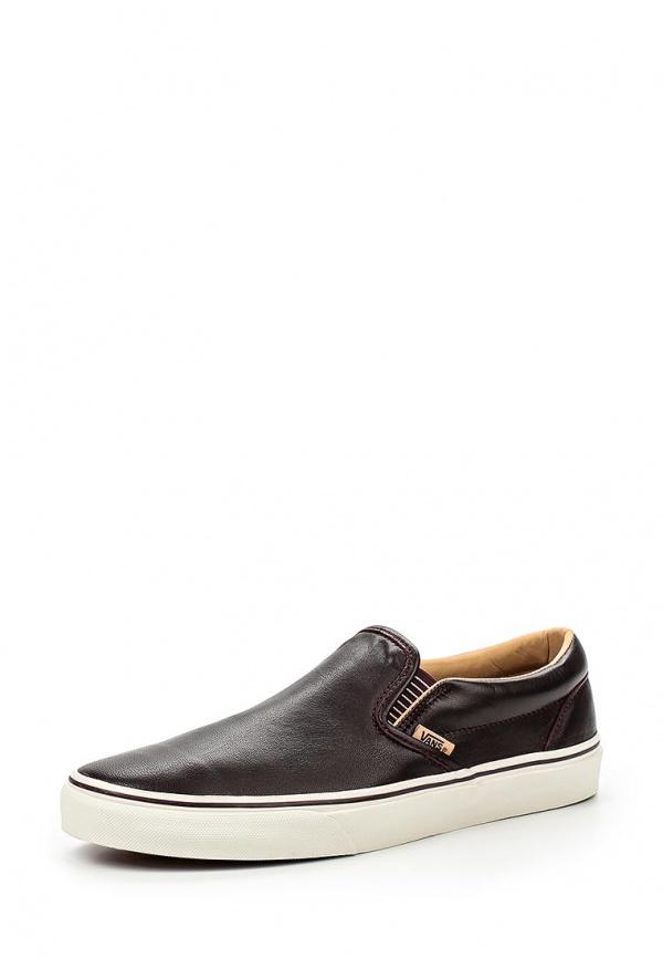 Мужские темно-коричневые кожаные слипоны от Vans   Где купить и с ... e6eec7922a7
