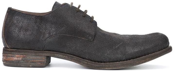Темно-коричневые кожаные туфли дерби от A Diciannoveventitre