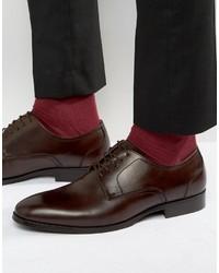 Мужские темно-коричневые кожаные туфли дерби от Aldo
