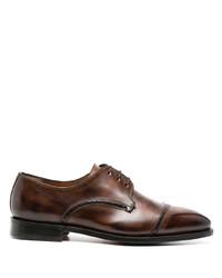 Темно-коричневые кожаные туфли дерби от Bontoni