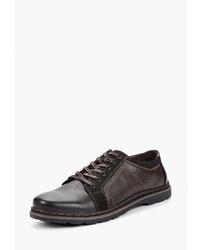 Темно-коричневые кожаные туфли дерби от Instreet