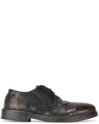 Мужские темно-коричневые кожаные туфли дерби от Marsèll