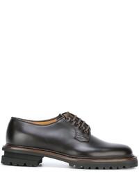Мужские темно-коричневые кожаные туфли дерби от Premiata