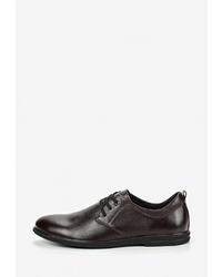 Темно-коричневые кожаные туфли дерби от SHOIBERG