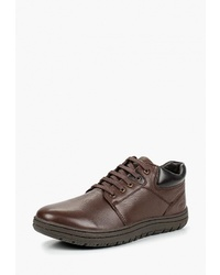 Темно-коричневые кожаные туфли дерби от Woodland