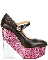 Женские темно-коричневые кожаные туфли от Charlotte Olympia