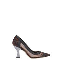 Темно-коричневые кожаные туфли от Fendi
