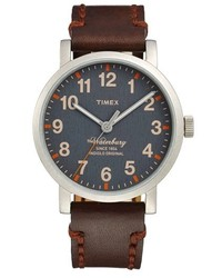 Темно-коричневые кожаные часы