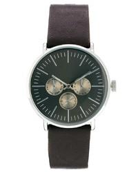 Мужские темно-коричневые кожаные часы от Asos