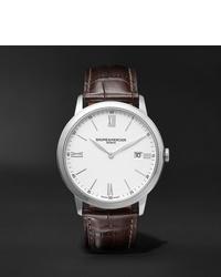 Мужские темно-коричневые кожаные часы от Baume & Mercier