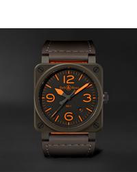 Мужские темно-коричневые кожаные часы от Bell & Ross