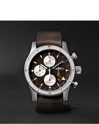 Мужские темно-коричневые кожаные часы от Bremont
