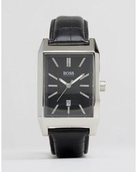Мужские темно-коричневые кожаные часы от Hugo Boss