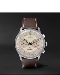 Мужские темно-коричневые кожаные часы от Junghans