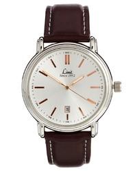 Мужские темно-коричневые кожаные часы от Limit