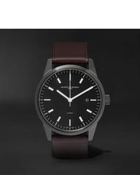 Мужские темно-коричневые кожаные часы от Maurice de Mauriac
