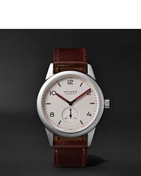 Мужские темно-коричневые кожаные часы от NOMOS Glashütte