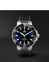 Мужские темно-коричневые кожаные часы от Oris