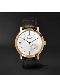Мужские темно-коричневые кожаные часы от Piaget