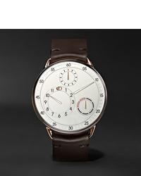 Мужские темно-коричневые кожаные часы от Ressence