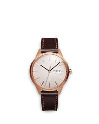 Мужские темно-коричневые кожаные часы от Uniform Wares