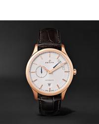 Мужские темно-коричневые кожаные часы от Zenith