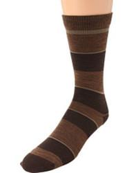Темно-коричневые носки