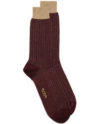 Мужские темно-коричневые носки от Etro