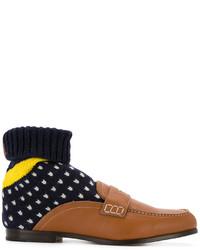 Мужские темно-коричневые носки от Loewe