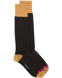 Женские темно-коричневые носки от Marni