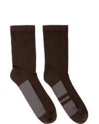 Мужские темно-коричневые носки от Rick Owens