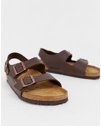 Мужские темно-коричневые сандалии от Birkenstock
