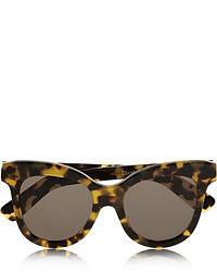Темно-коричневые солнцезащитные очки с леопардовым принтом