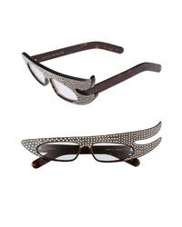 Темно-коричневые солнцезащитные очки с украшением